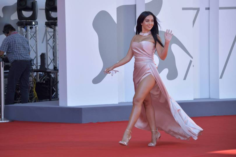 Georgina Rodriguez Sexy Revealing Dress