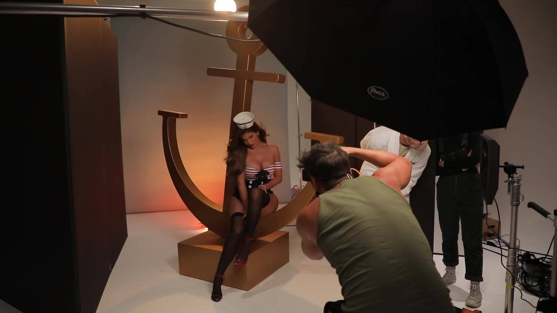 "Kylie Jenner - Sexy Breasts in ""My Sailor"" Behind the Scenes Photoshoot"
