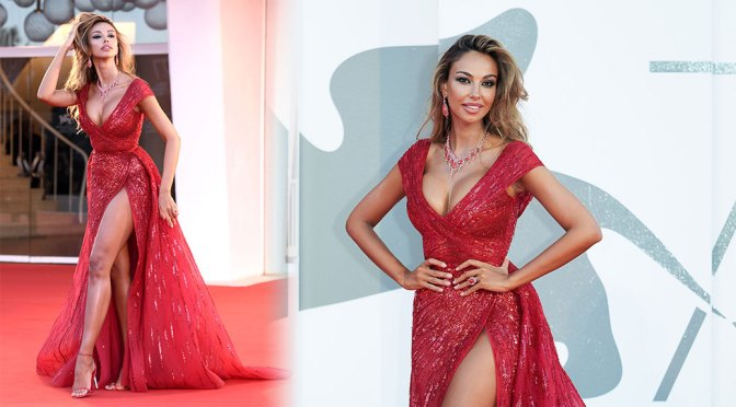 "Madalina Ghenea – Beautiful Boobs in Sexy Red Dress at ""Amants"" Premiere in Venice"