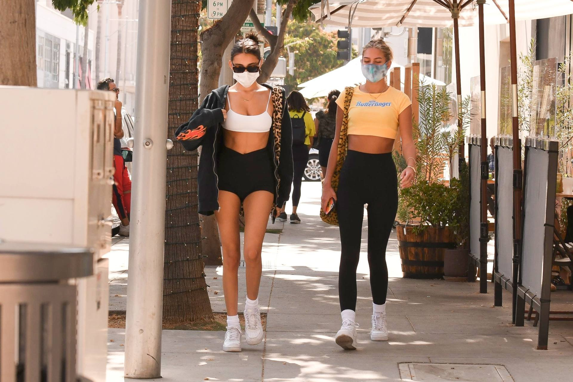 Madison Beer In Tiny Shorts And Top
