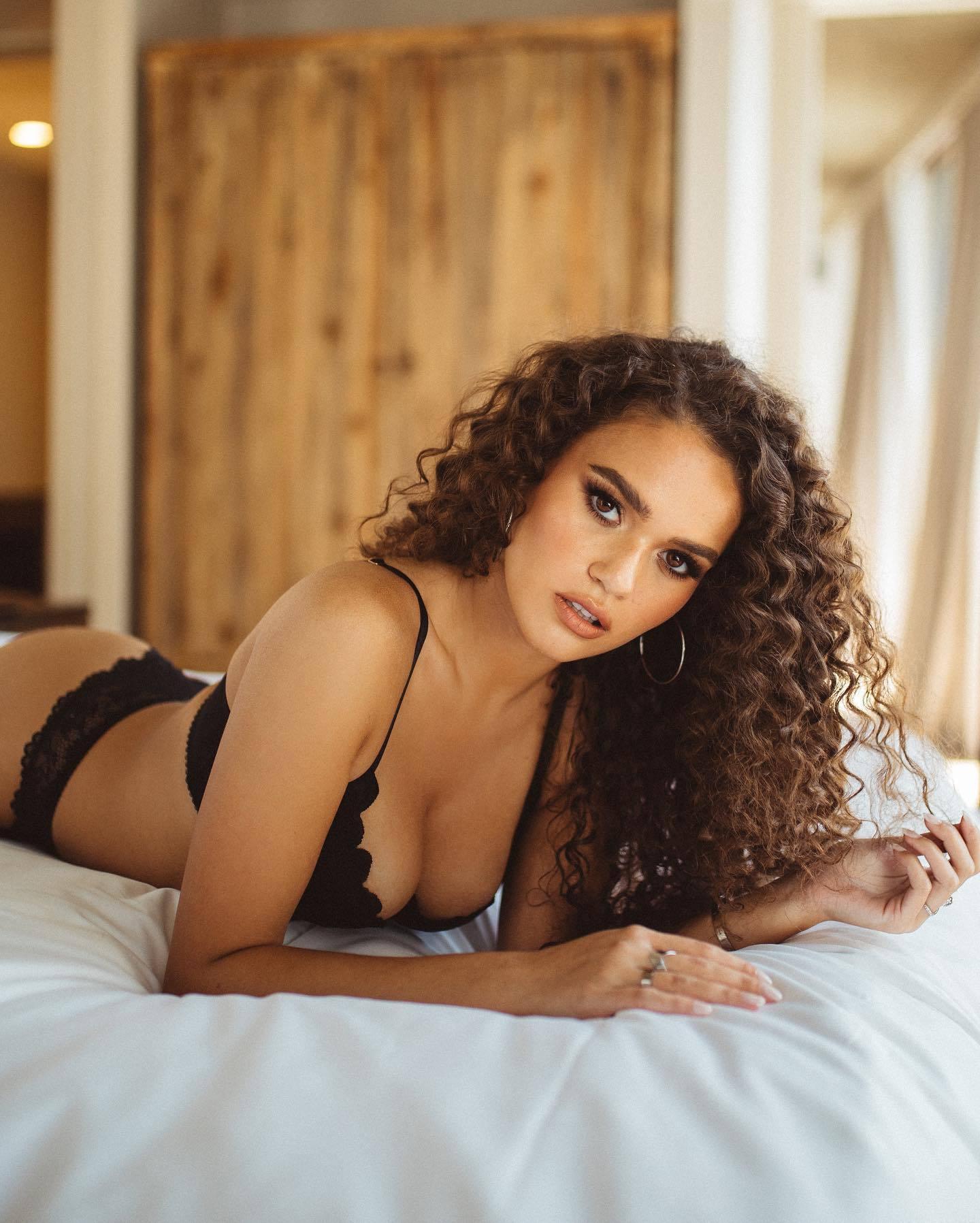 Madison Michelle Pettis Black Lingerie