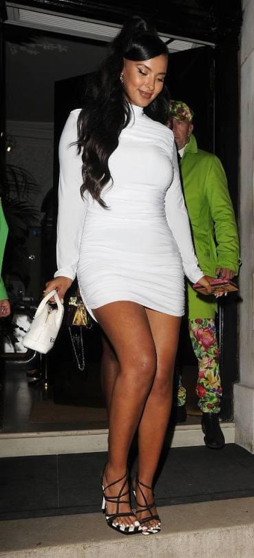 Maya Jama In Short Dress