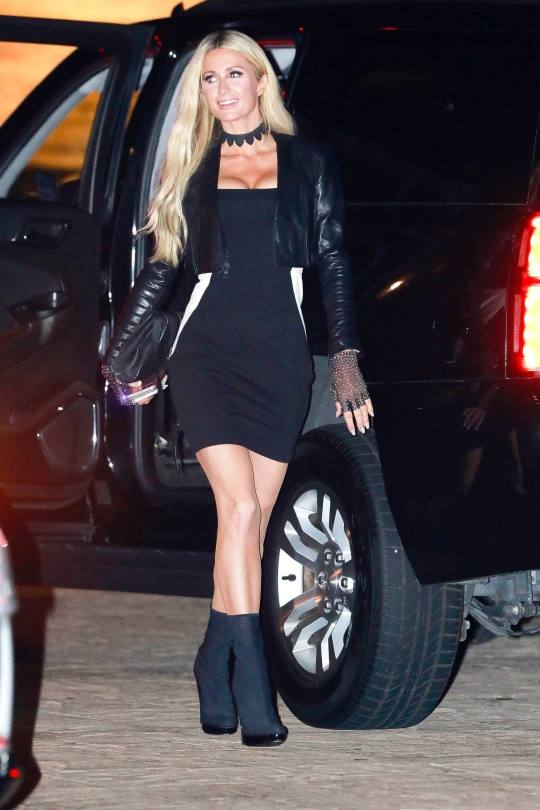 Paris Hilton In Sexy Black Dress