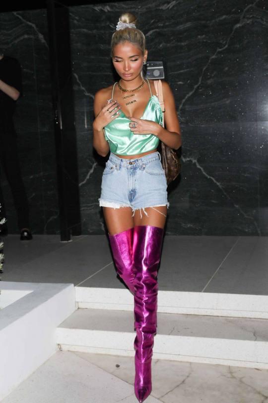 Pia Mia Perez In Purple Boots