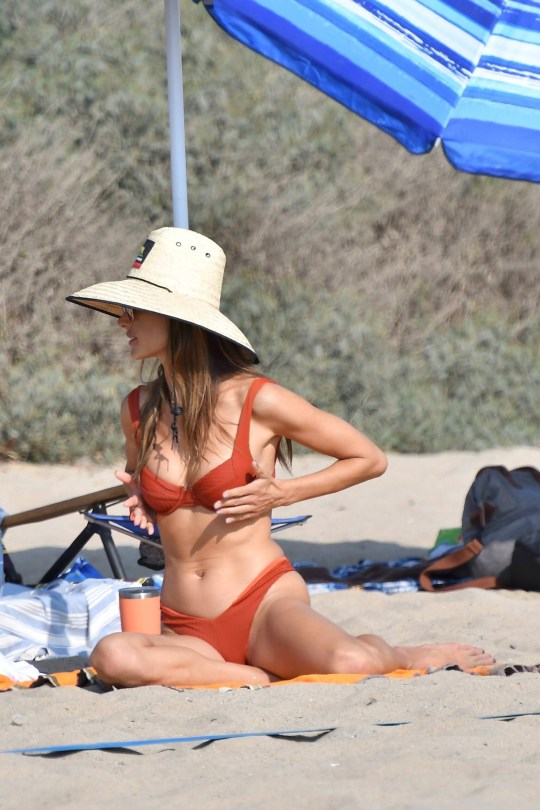 Alessandra Ambrosio In Red Bikini