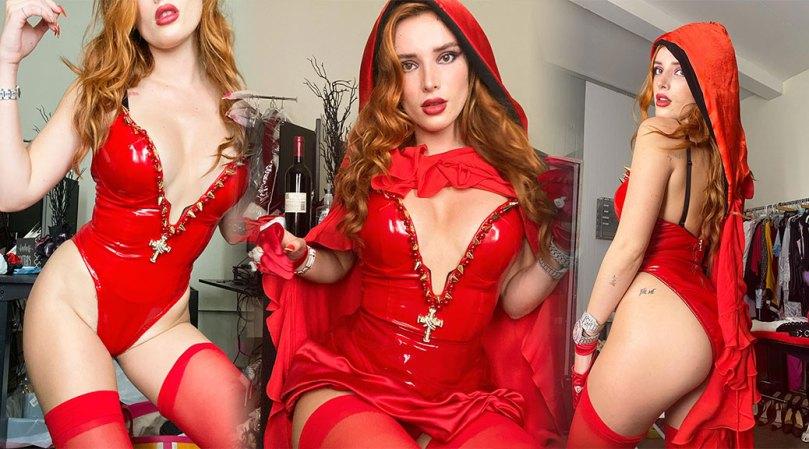 Bella Thorne Hot Body In Red