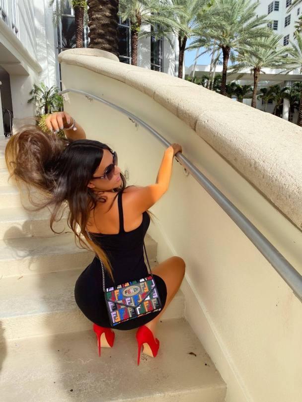 Claudia Romani Sexy Black Dress