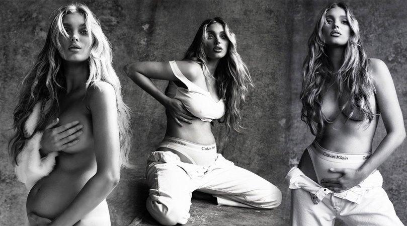 Elsa Hosk Beautiful Pregnant Body