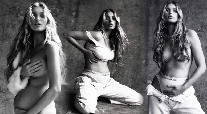 Elsa Hosk – Beautiful Pregnant Boobs in Sexy Naked Photoshoot by Sante D'Orazio