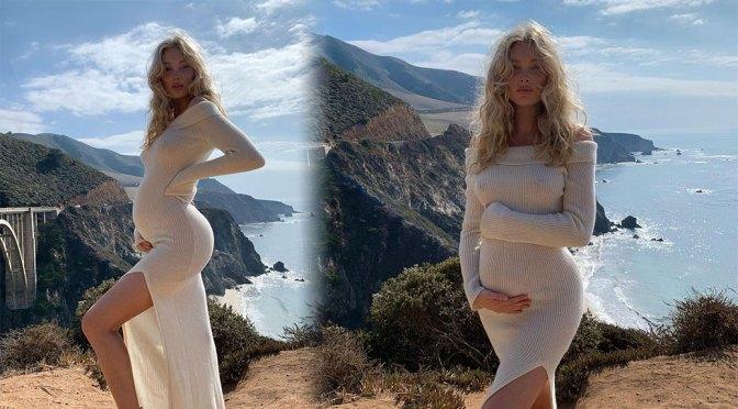 Elsa Hosk – Sexy Braless Boobs in Sheer Dress