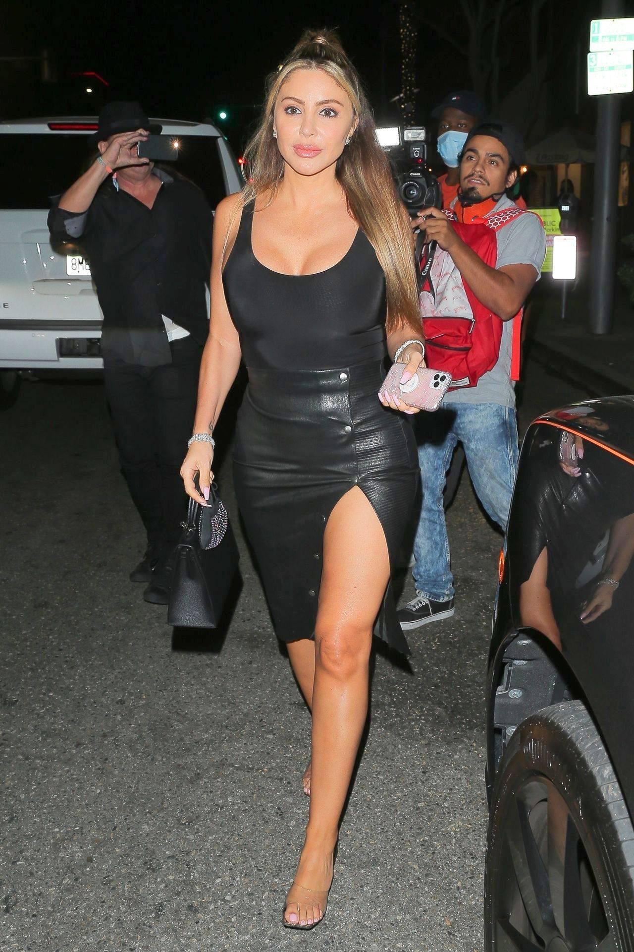 Larsa Pippen Sexy Skirt