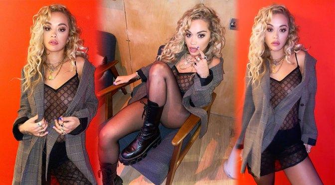 Rita Ora – Beautiful Legs and Braless Boobs in Sexy Sheer Dress
