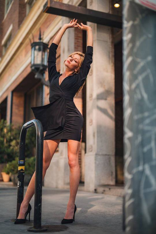 Katherine Mcnamara Sexy In Black Dress