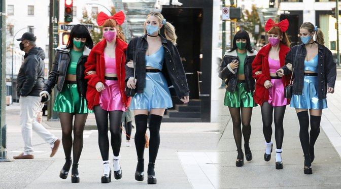 Lili Reinhart, Camila Mendes & Madelaine Petsch – Sexy as Powerpuff Girls Out in Vancouver