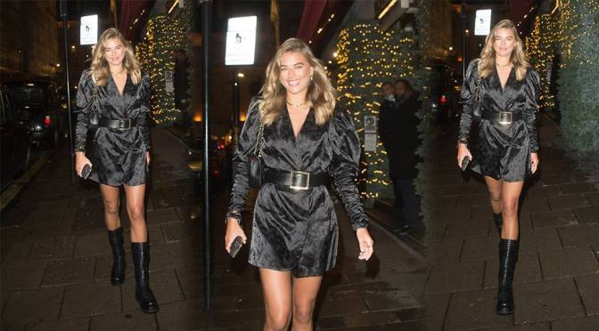 Arabella Chi – Sexy Legs at Novikov Restaurant in London