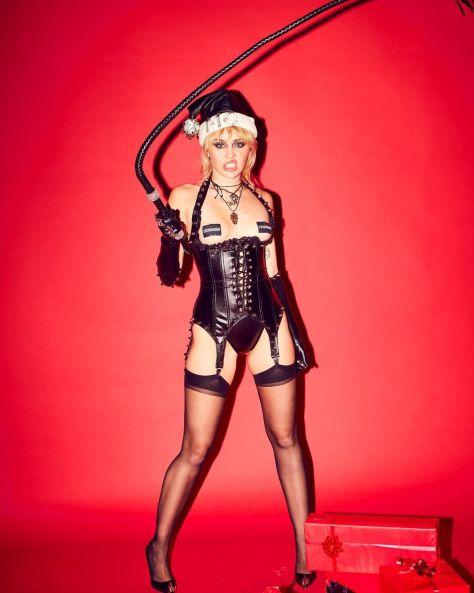 Miley Cyrus Sexy Dominatrix Outfit