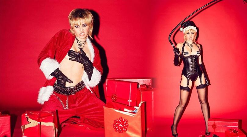 Miley Cyrus Topless Christmas Photoshoot