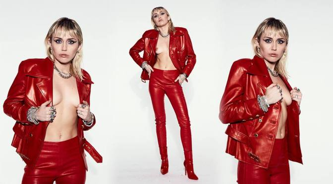 Miley Cyrus – Sexy Little Boobs in Hot Topless Photoshoot (NSFW)