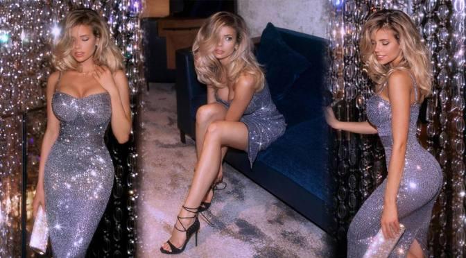 Nata Lee –  Beautiful Body in a Shiny Tight Dress