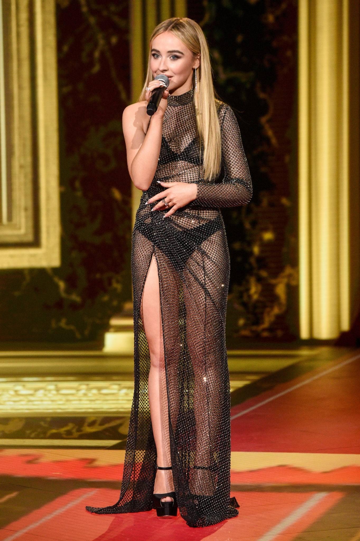 Sabrina Carpenter In Sheer Dress