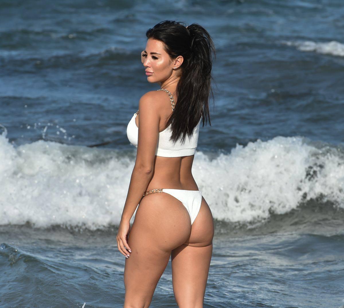 Yazmin Oukhellou In White Bikini