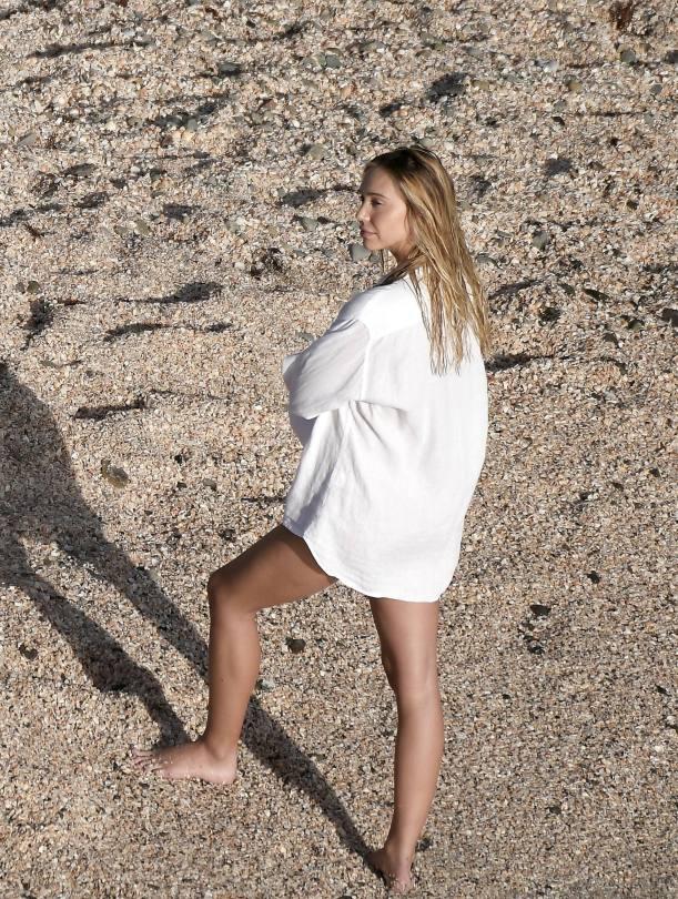 Alexis Ren Naked On Beach