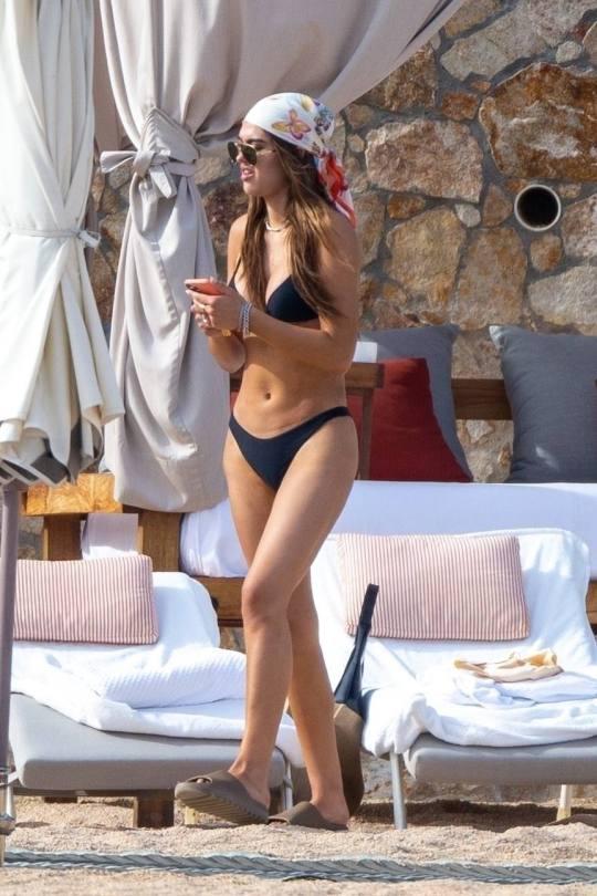 Amelia Gray Hamlin Sexy In Black Bikini