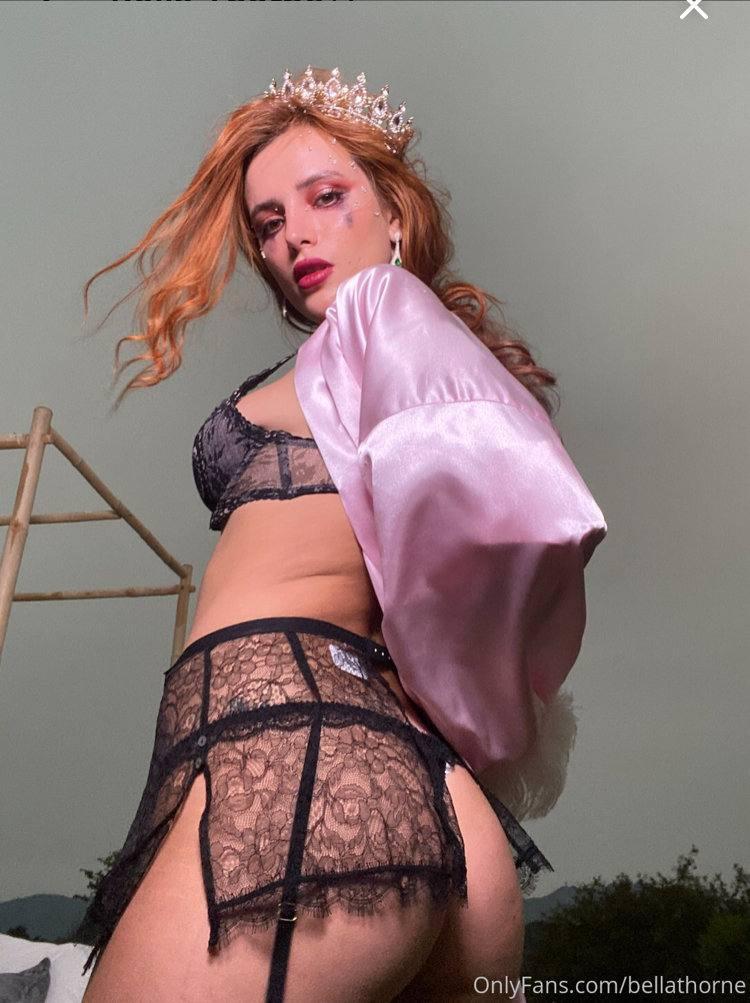 Bella Thorne In Black Lingerie