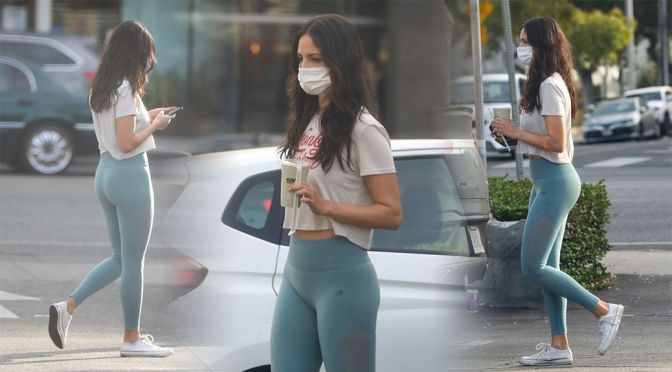 Eiza Gonzalez – Sexy in Leggings at Alfred's in West Hollywood