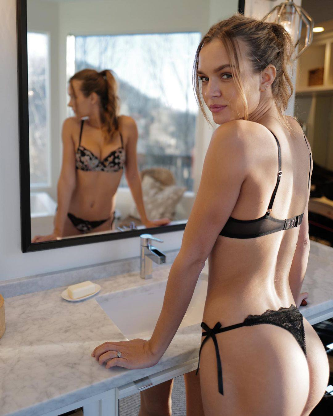 Josephine Skriver Sexy Ass In A Thong