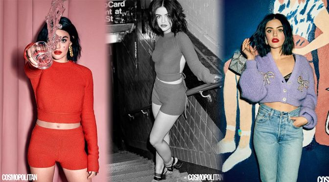 Lucy Hale – Lovely in a Beautiful Photoshoot for Cosmopolitan Magazine