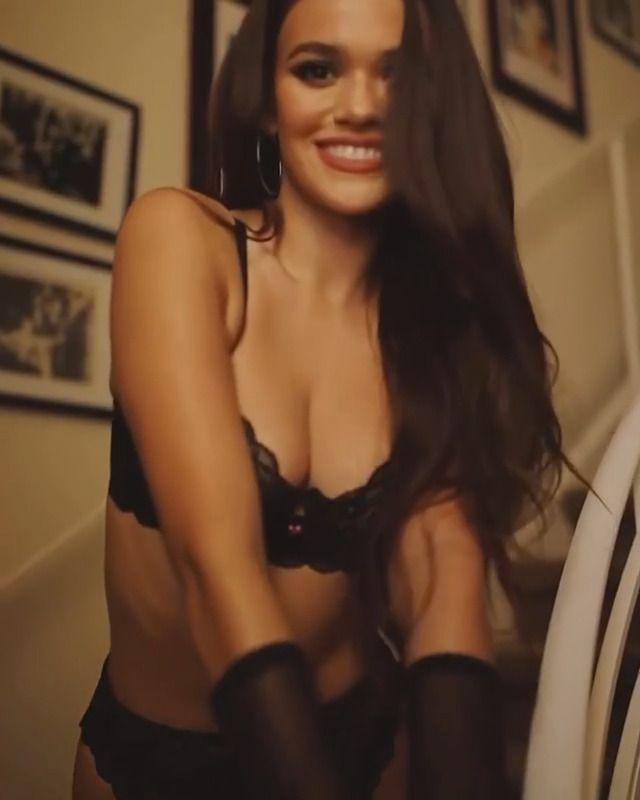 Madison Pettis Sexy Black Lingerie