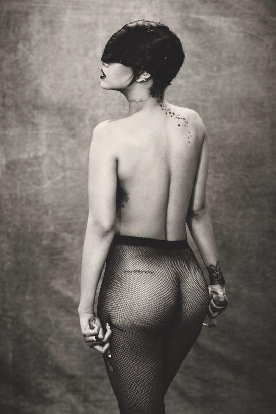 Rihanna Ass In Sheer Pantyhose