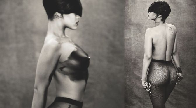 Rihanna – Fantastic Boobs and Ass in a Sexy Topless Photoshoot (NSFW)