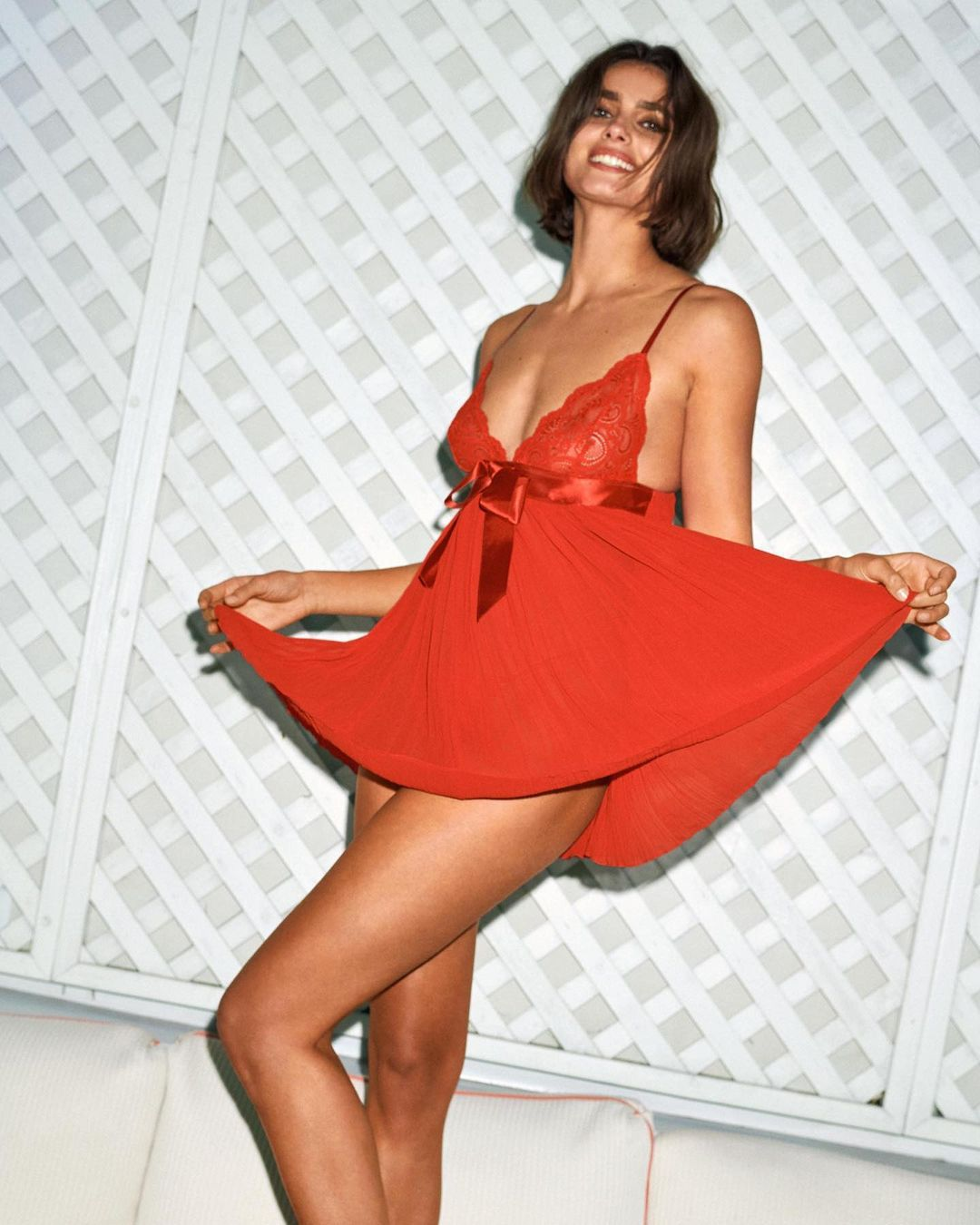 Taylor Marie Hill Sexy In Red