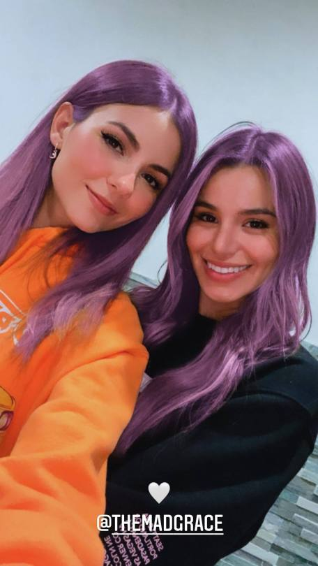 Victoria Justice Sexy Purple Hair