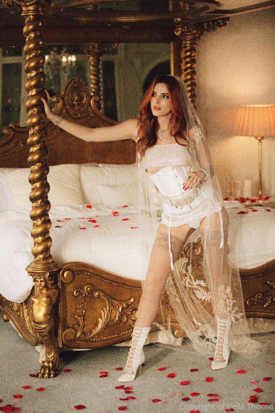 Bella Thorne Sexy In White Lingerie