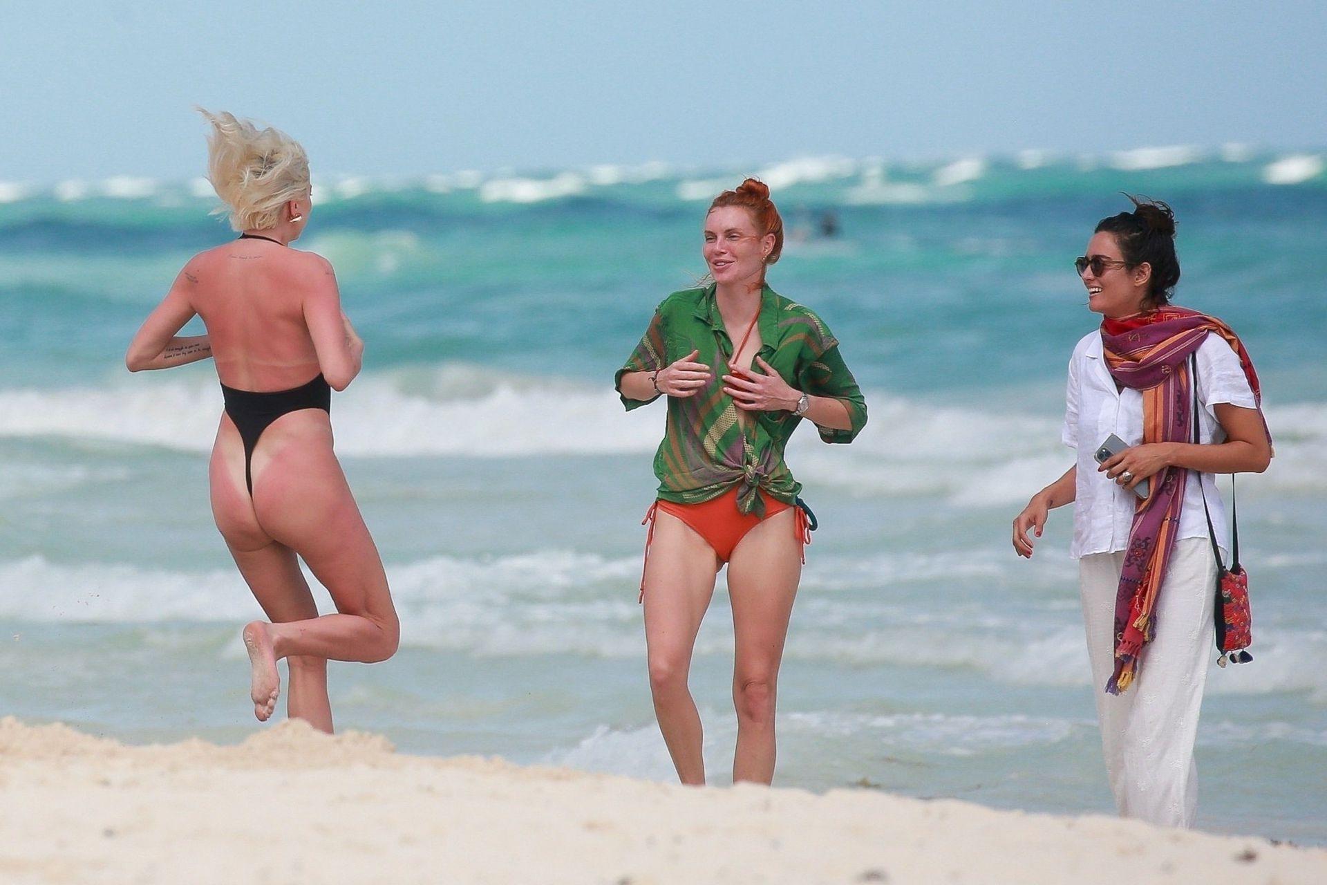 Caroline Vreeland Sexy Thong Swimsuit
