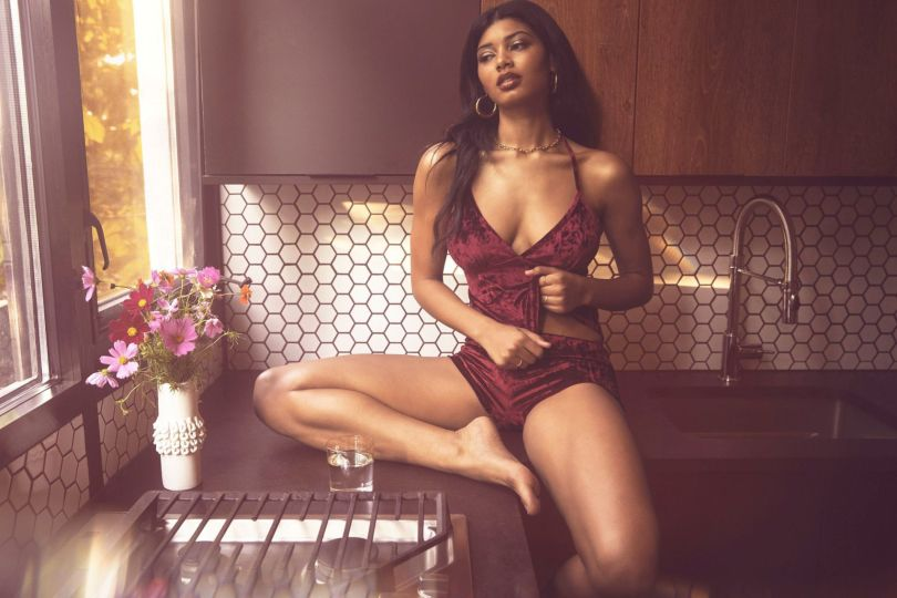 Danielle Herrington Sexy In Lingerie