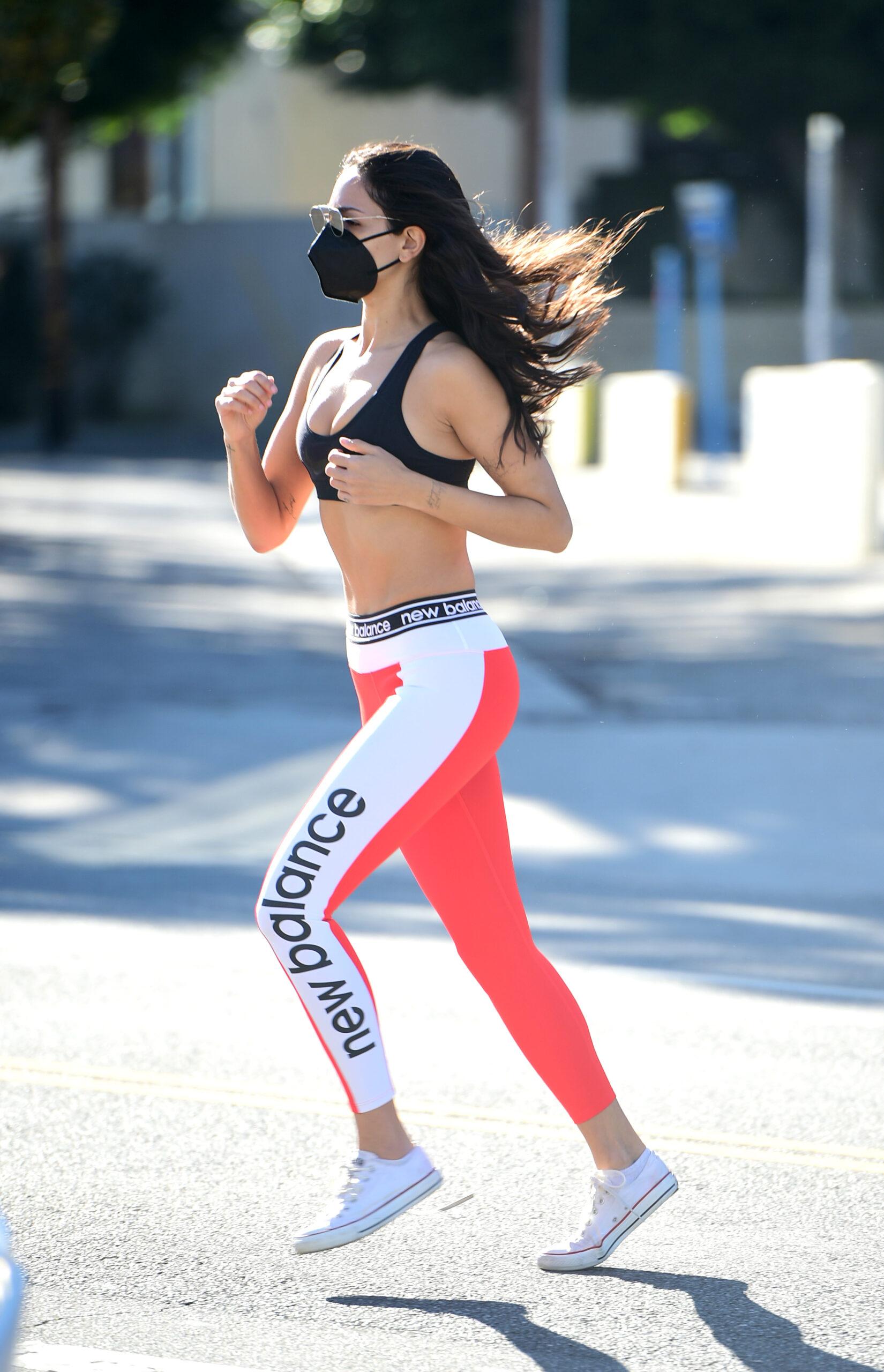 Eiza Gonzalez Tiny Sports Bra