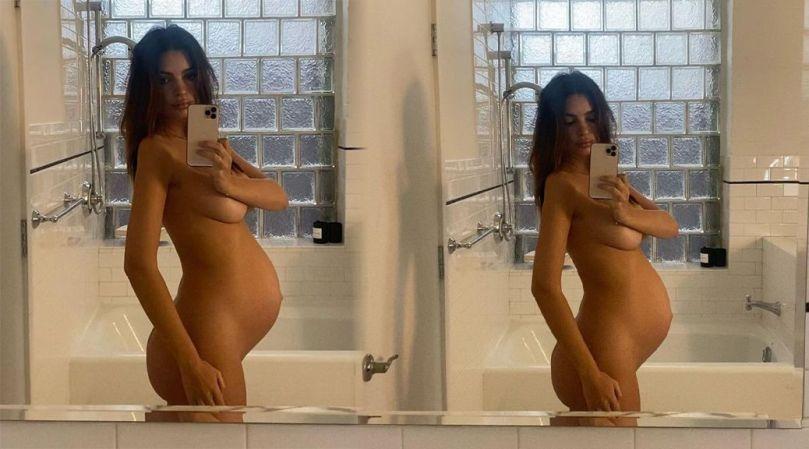 Emily Ratajkowski Hot Naked Pregnant Body