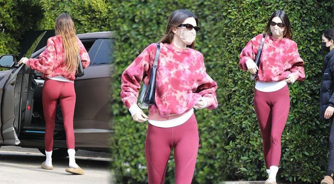 Kendall Jenner – Attractive Big Cameltoe at a Gym in Los Angeles