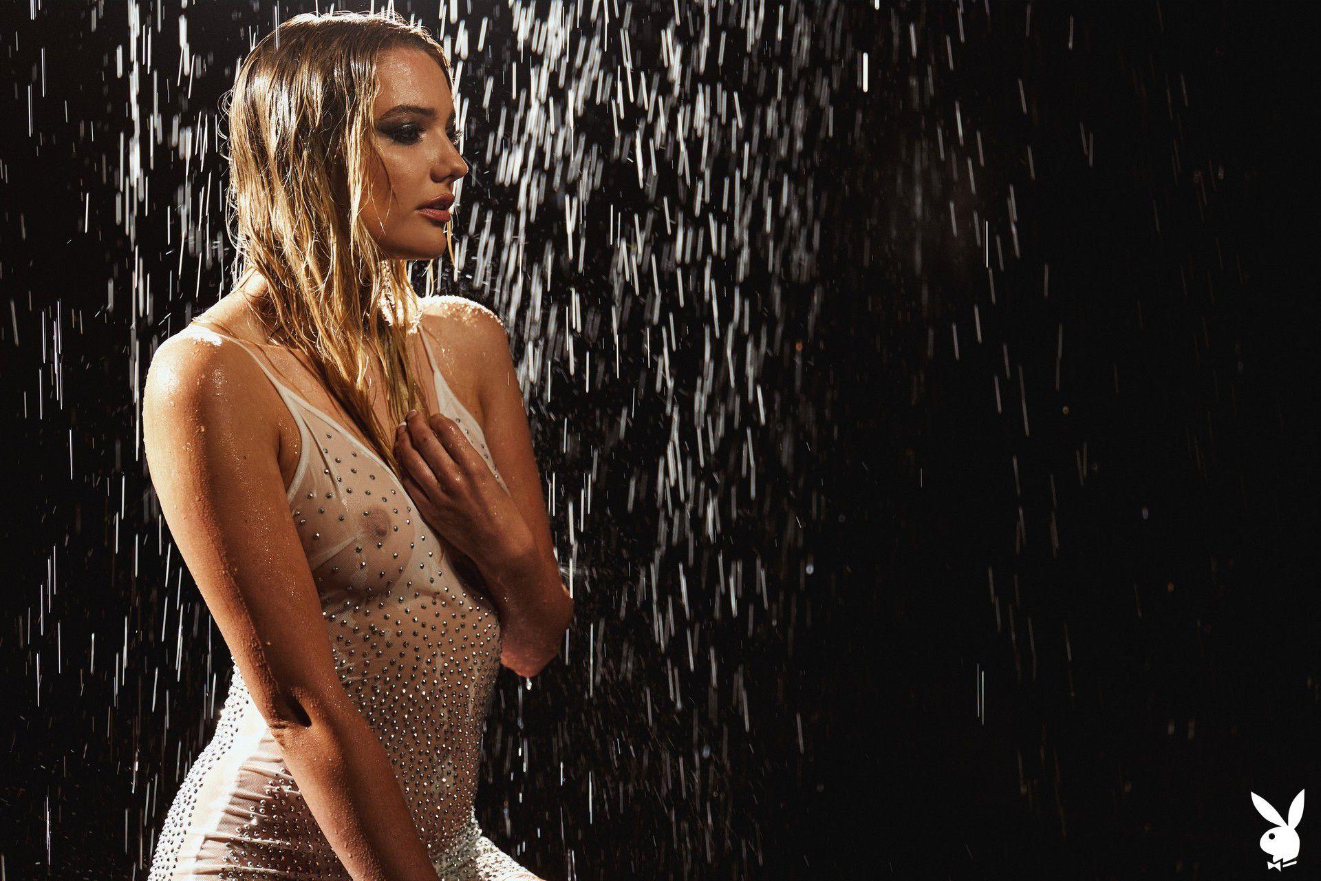 Kenna James Naked Playboy Shoot