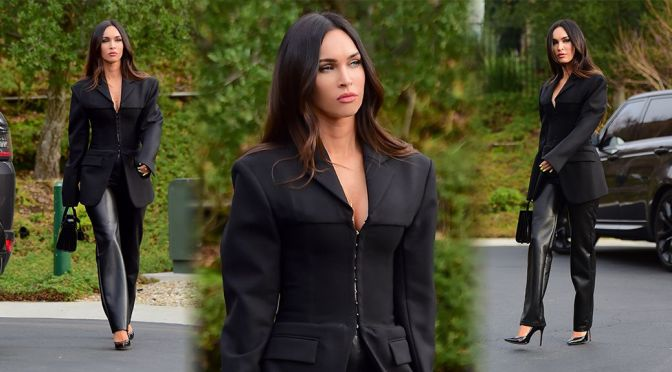 Megan Fox – Sexy in High Heels Out in Los Angeles