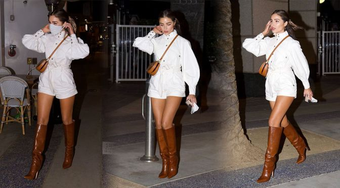 Olivia Culpo – Sexy Legs in Boots Out in Santa Monica