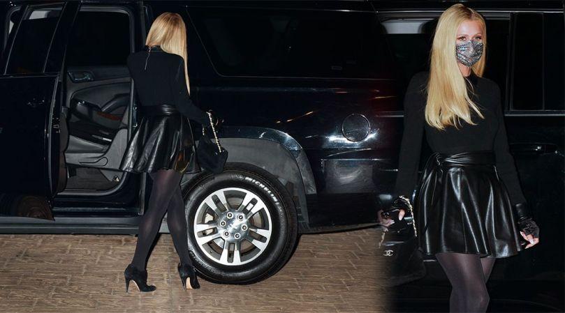 Paris Hilton Sexy In Black Stockings