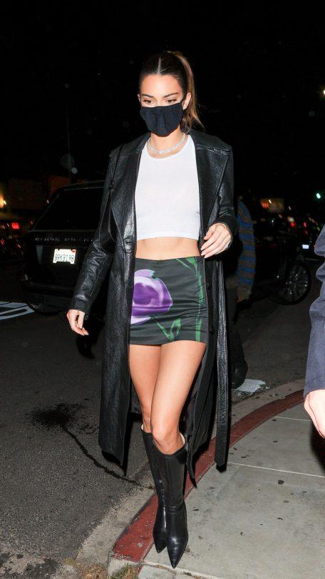 Kendall Jenner In Mini Skirt