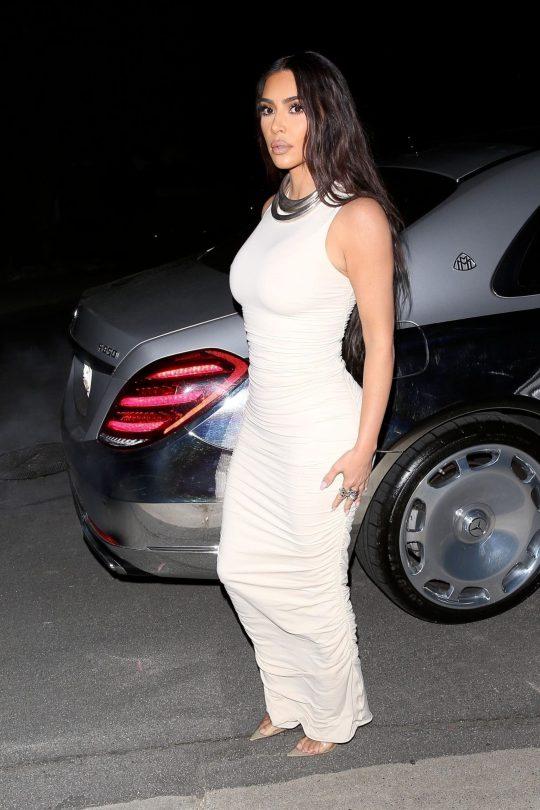 Kim Kardashian In Tight Dress