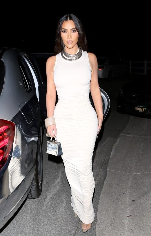 Kim Kardashian In Tight Dress