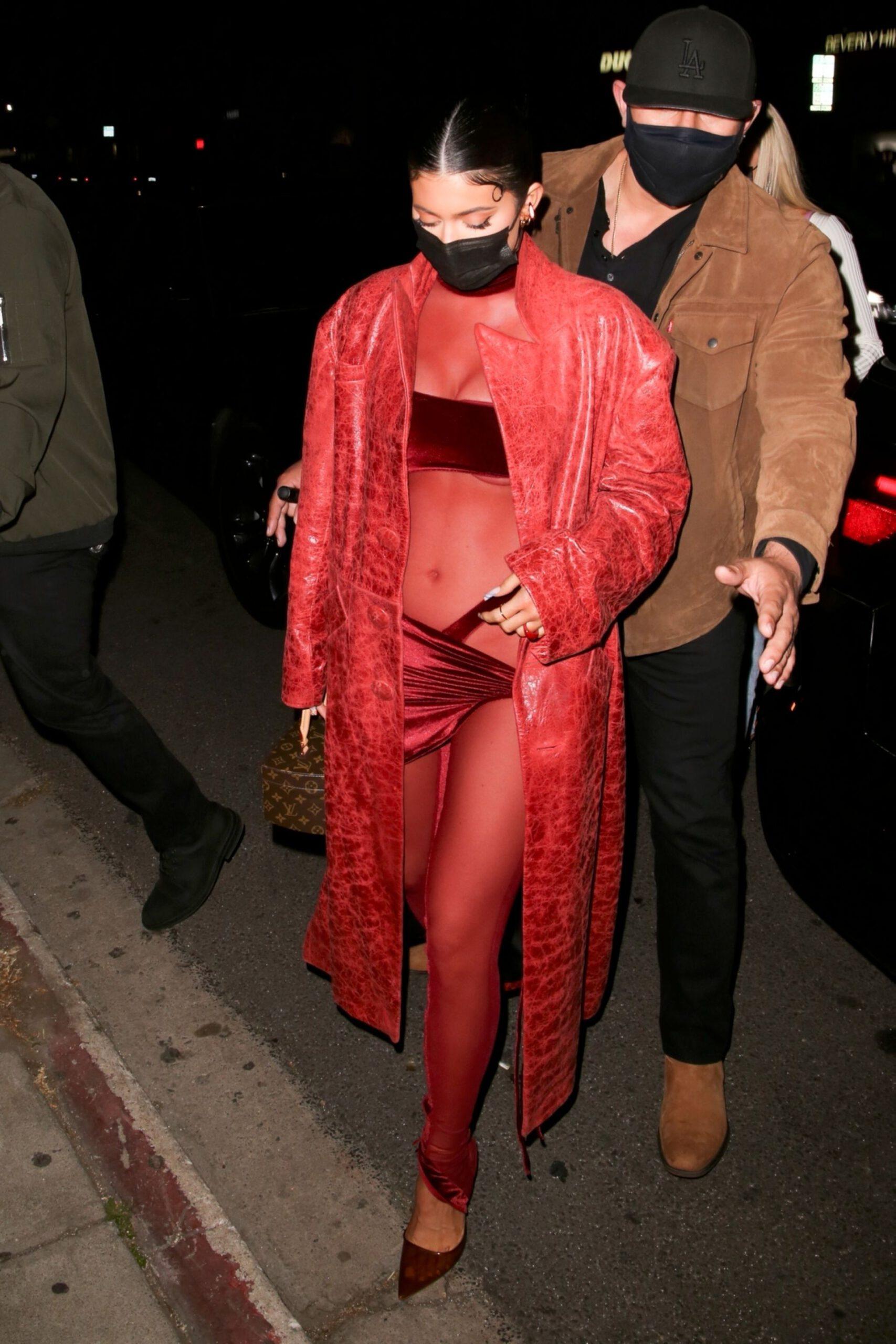 Kylie Jenner Sexy Skimpy Outfit